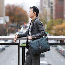 Nov. 11, 2015; New York, NY, USA; Tom Bihn Pilot and Co-Pilot bags. Mandatory Credit: Joe Nicholson Photography