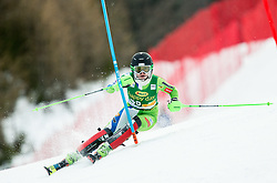 "Andreja Slokar (SLO) in action during 1st Run of the FIS Alpine Ski World Cup 2017/18 7th Ladies' Slalom race named ""Golden Fox 2018"", on January 7, 2018 in Podkoren, Kranjska Gora, Slovenia. Photo by Ziga Zupan / Sportida"