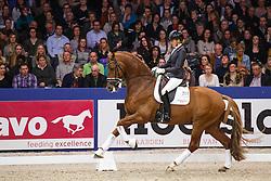Scholtens Emmelie (NED) - Dorado<br /> KWPN Stallion Selection - 's Hertogenbosch 2014<br /> © Dirk Caremans