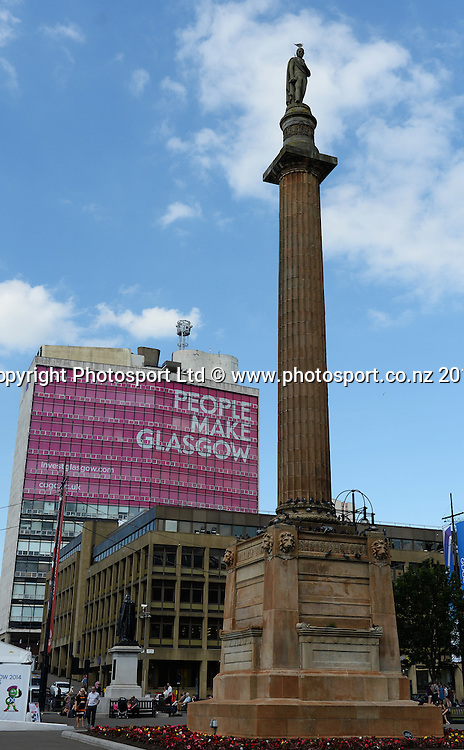 Glasgow city scene. Scotland. Commonwealther Games 2014. Tuesday 22 July 2014. Photo: Andrew Cornaga/www.photosport.co.nz