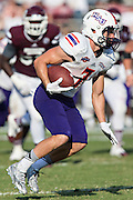 STARKVILLE, MS - SEPTEMBER 19:  Ed Eagan #7 of the Northwestern State Demons runs the ball against the Mississippi State Bulldogs at Davis Wade Stadium on September 19, 2015 in Starkville, Mississippi.  The Bulldogs defeated the Demons 62-13.  (Photo by Wesley Hitt/Getty Images) *** Local Caption *** Ed Eagan