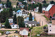 Low income housing in the old mining town of Victor, Colorado, USA.
