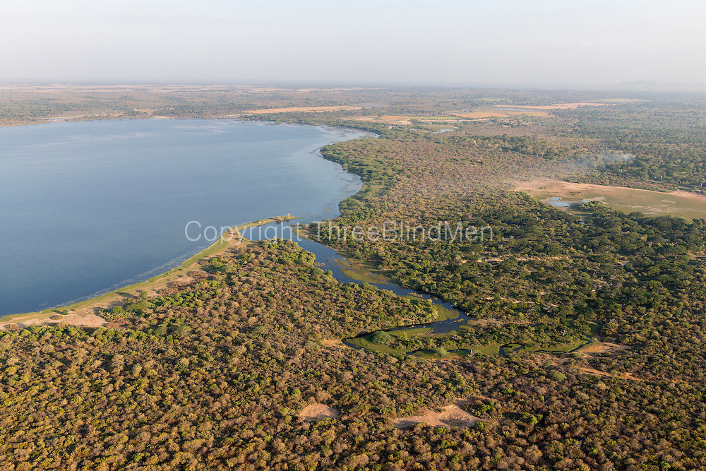 The Island from Above. Scrub jungle and inland waterways near salt pans in the South.