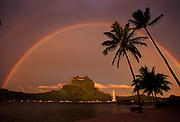 Bora Bora; French Polynesia; tahiti; south pacific. rainbow
