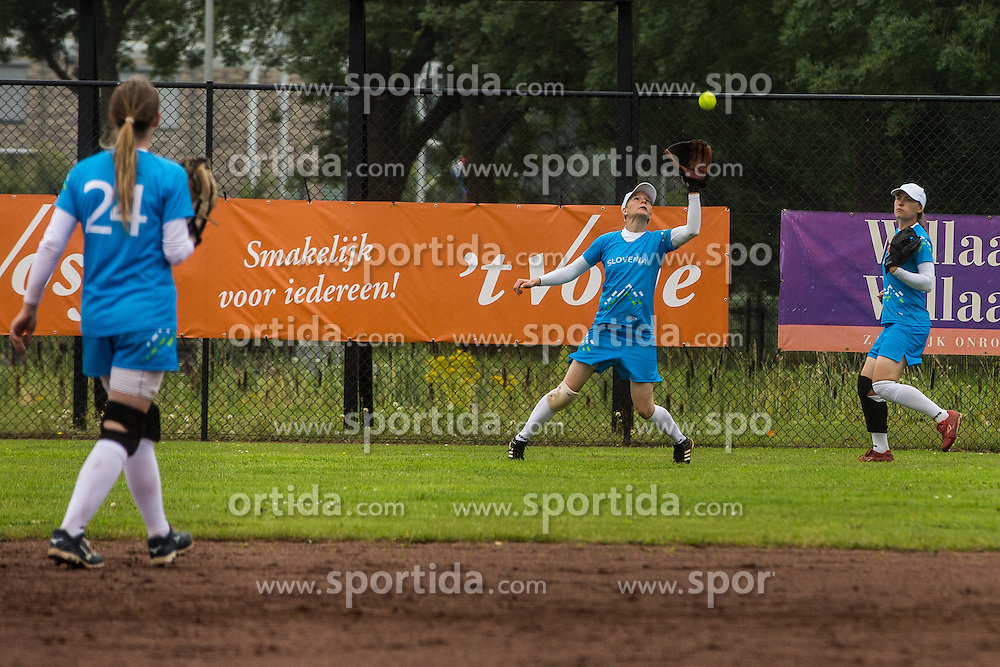 Slovenia vs Austria during XIX European Softball Fastpitch  Championship Women, on July 20, 2015 in Rosmalen,  Netherlands. Photo by Grega Valancic / Sportida