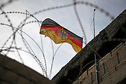 German flag flitters over DHQ Chahar Dareh, Northern Afghanistan