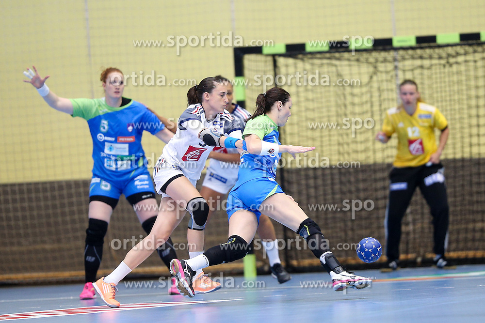 Nina Jericek of Slovenia during handball match between National Teams of Slovenia and France in Qualification of 2016 Women's European Championship, on June 13th, in Rdeca Dvorana, Velenje. Photo by Morgan Kristan / Sportida