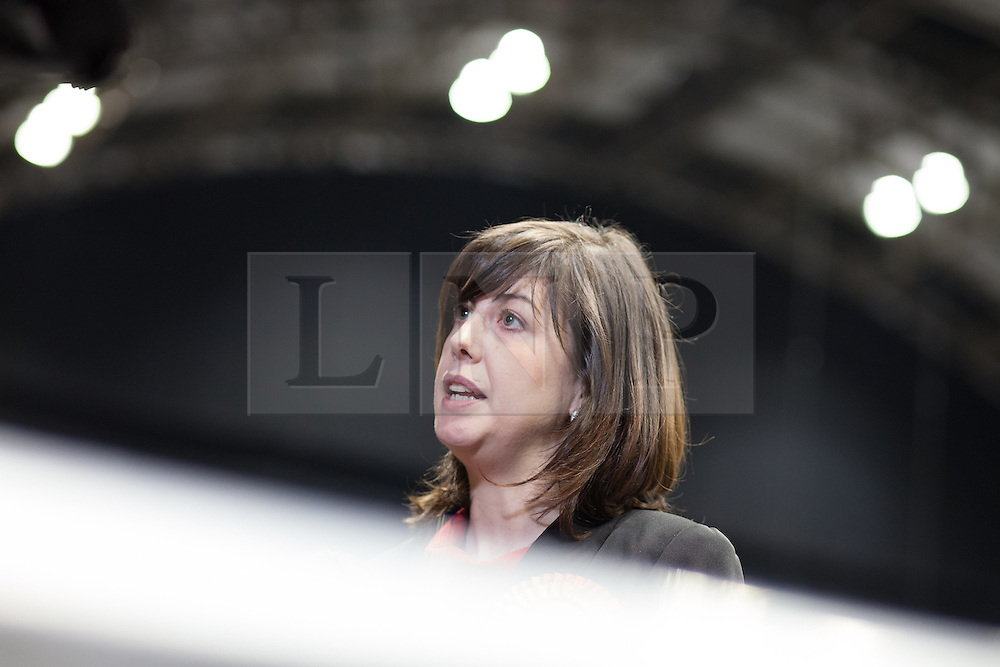 © Licensed to London News Pictures . 16/11/2012 . Manchester , UK . Winner , Lucy Powell of the Labour Party . Manchester Central by election count at Manchester Central Convention Centre . Photo credit : Joel Goodman/LNP