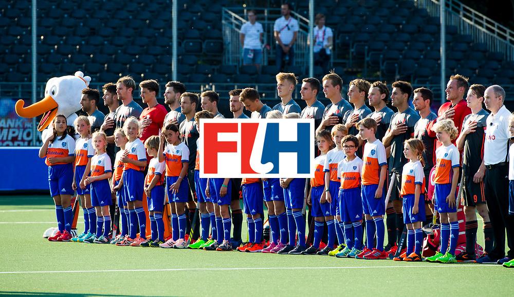 BREDA - line up  Nederland  tijdens Nederland- Australie bij  de Hockey Champions Trophy. COPYRIGHT KOEN SUYK