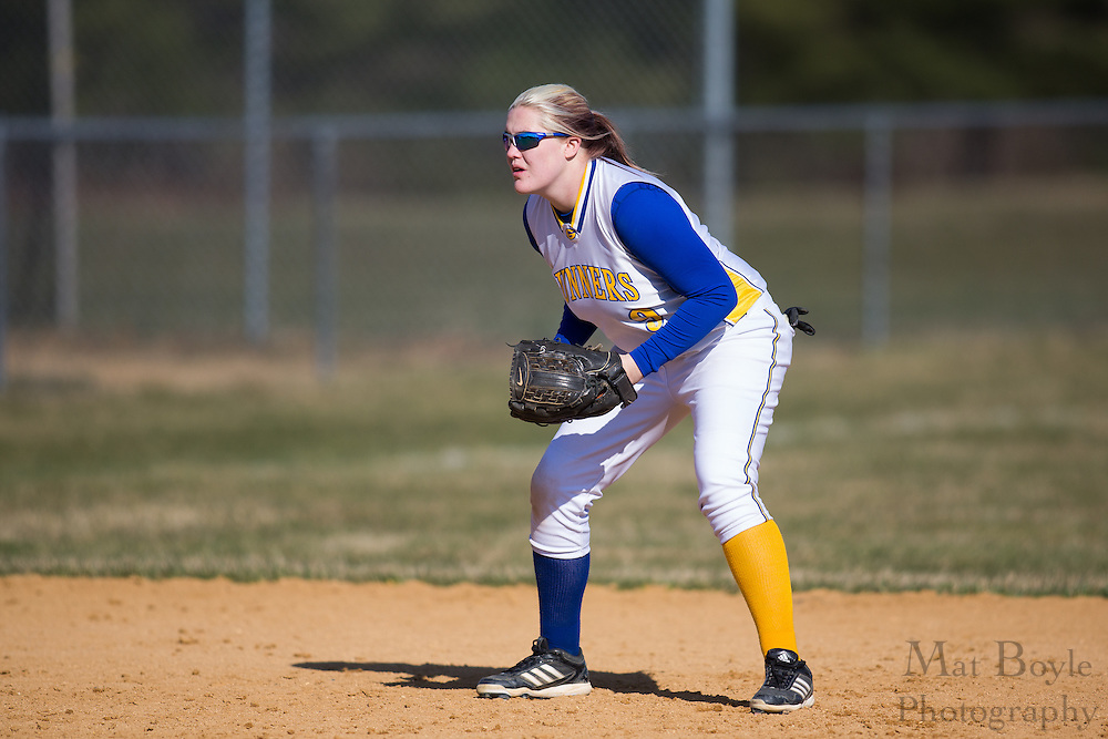 Gloucester County College softball pitcher/short stop Melissa Mackey (9) - Orange County Community College Softball at Gloucester County College at Gloucester County College softball fields in Sewell, NJ on Tuesday April 2, 2013. (photo / Mat Boyle)