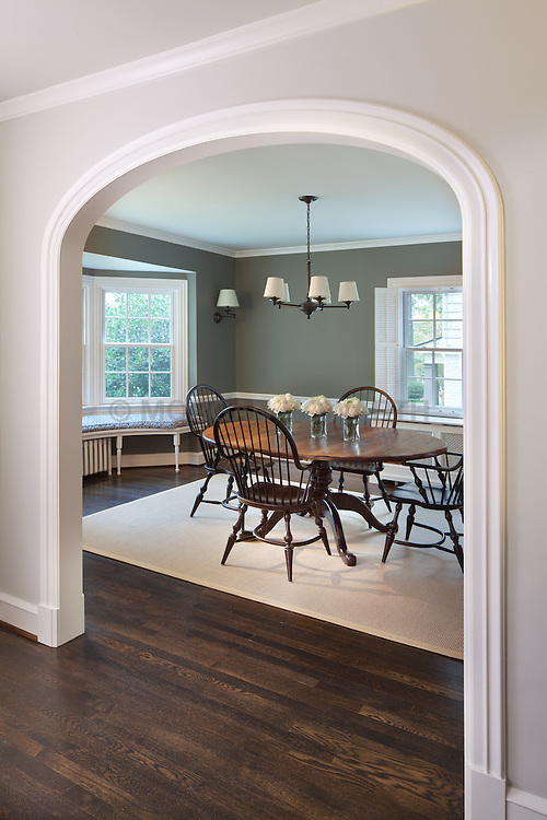 7207 Maple Ave. Chevy Chase, MD Architect builder Anthony Wilder Dining Room Hallway foyer entrance archway