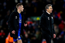 Leicester City manager Claude Puel and Jamie Vardy of Leicester City - Mandatory by-line: Robbie Stephenson/JMP - 30/01/2019 - FOOTBALL - Anfield - Liverpool, England - Liverpool v Leicester City - Premier League