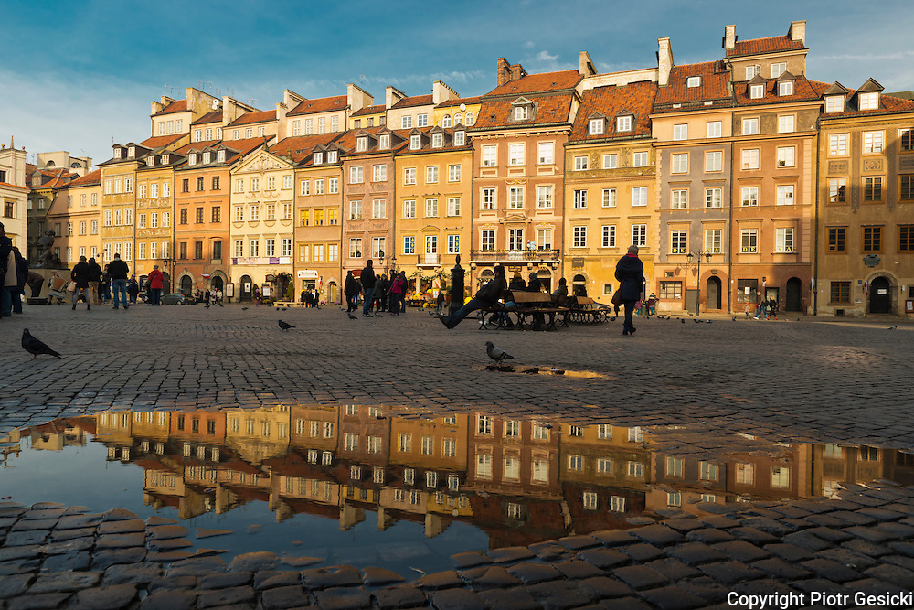 Old Town market square Warsaw Poland photography by Piotr Gesicki