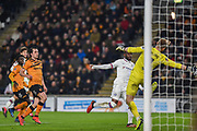 GOAL - Fikayo Tomori (29) of Chelsea FC heads the ball into the net during the The FA Cup match between Hull City and Chelsea at the KCOM Stadium, Kingston upon Hull, England on 25 January 2020.