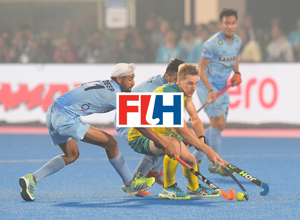 Odisha Men's Hockey World League Final Bhubaneswar 2017<br /> Match id:02<br /> Australia v India<br /> Foto: SINGH Mandeep in dual with BEALE Daniel<br /> WORLDSPORTPICS COPYRIGHT FRANK UIJLENBROEK