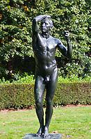 Middleheim Sculpture Park, Antwerp, Belgium - Rodin's bronze of a nude youth
