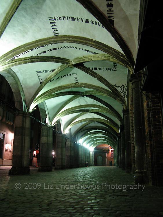 Night Scene in Brugges Street
