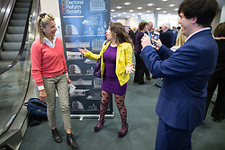 © Licensed to London News Pictures . 25/09/2015 . Doncaster , UK . Fans greet KATIE HOPKINS (l) at the 2015 UKIP Party Conference at Doncaster Racecourse , this morning (Friday 25th September 2015) . Photo credit : Joel Goodman/LNP