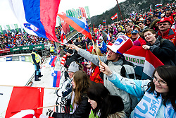 Fans during Flying Hill Team Final Round at 3rd day of FIS Ski Jumping World Cup Finals Planica 2011, on March 19, 2011, Planica, Slovenia. (Photo By Matic Klansek Velej / Sportida.com)