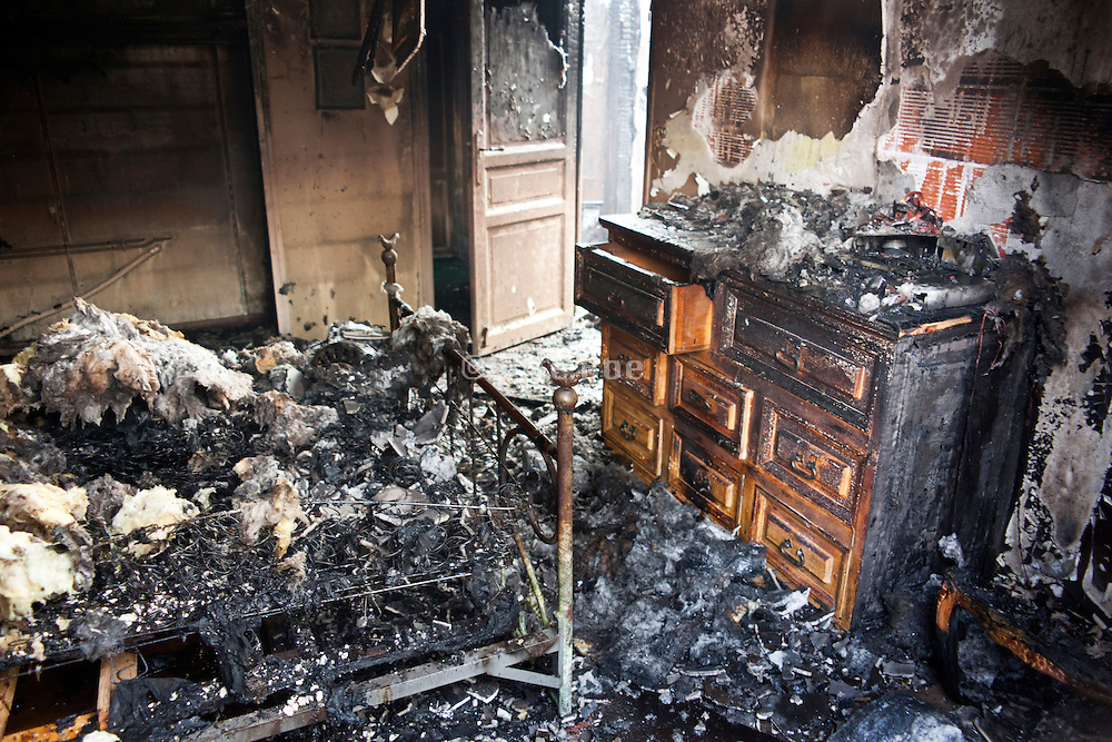 fire gutted bedroom