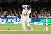 Ben Stokes of England drives the ball to the boundary for four runs during the International Test Match 2019 match between England and Australia at Lord's Cricket Ground, St John's Wood, United Kingdom on 18 August 2019.