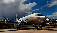 The McDonald Douglas C 54 ,(civilian DC 4) at the Pima Air and Space Museum in Tuscon, Arizona.<br /> <br /> Photo by Dennis Brack