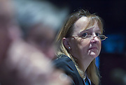 Karin Krchnak, Director of Freshwater Program of the World Wildlife Fund (WWF) U.S., participates in the ministerial roundtables of the World Water Forum at Gyeongju Hyundai Hotel in Gyeongju, South Korea, April 13, 2015. Photo by Lee Jae-Won (SOUTH KOREA)  www.leejaewonpix.com