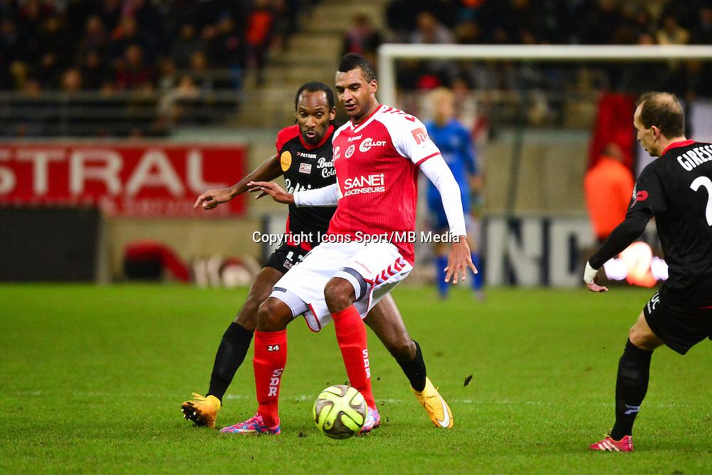 David NGOG - 07.12.2014 - Reims / Guingamp - 17eme journee de Ligue 1 -<br />Photo : Dave Winter / Icon Sport