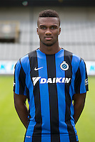 Club's Obbi Oulare poses for the photographer during the 2015-2016 season photo shoot of Belgian first league soccer team Club Brugge, Friday 17 July 2015 in Brugge