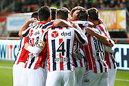 28-11-2015 VOETBAL:FC TWENTE-WILLEM II:ENSCHEDE<br /> De spelers van Willem II vieren de 0-2 van Lucas Andersen van Willem II (niet in beeld)<br /> Foto: Geert van Erven