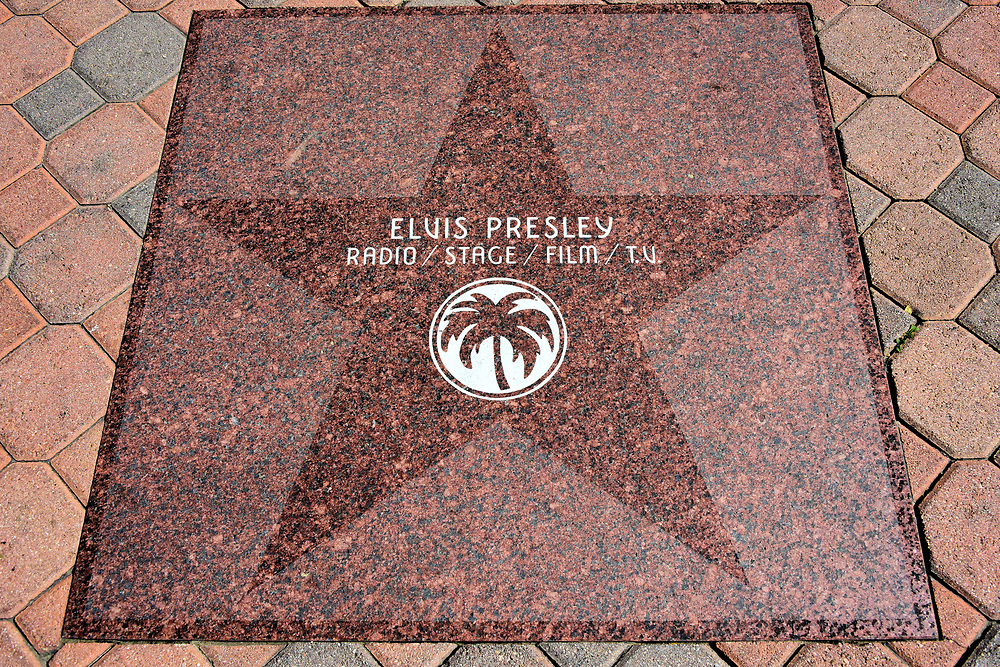 Elvis Presley Star at Walk of Stars in Palm Springs, California<br />
