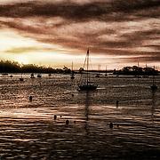 Sunrise at Penobscot Bay using filtration