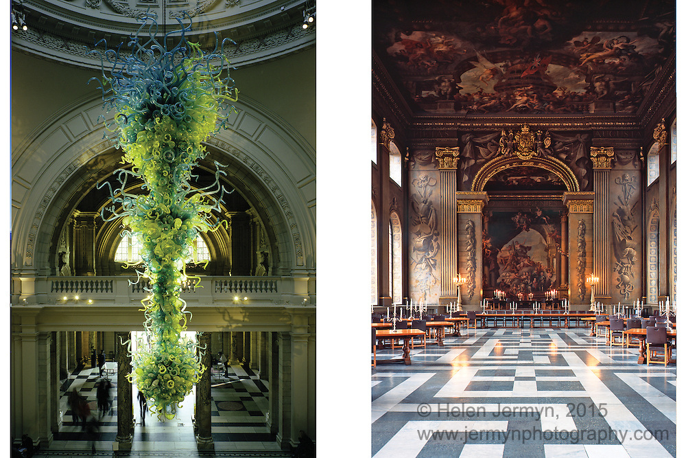 Rotunda chandelier, V&A, South Kensington, & Painted Hall, Greenwich