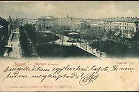Zagreb (Croatie) : Zrinjevac. <br /> <br /> ImpresumZagreb : Naklada tiskare A. Brusina, [1900].<br /> Materijalni opis1 razglednica : tisak ; 9 x 14 cm.<br /> SuradnikCvijič, G.<br /> NakladnikTiskara A. Brusina<br /> Vrstavizualna građa • razglednice<br /> ZbirkaZbirka razglednica • Grafička zbirka NSK<br /> Formatimage/jpeg<br /> PredmetZagreb –– Trg Nikole Šubića Zrinskog<br /> SignaturaRZG-ZRIN-9<br /> Obuhvat(vremenski)20. stoljeće<br /> NapomenaRazglednica je putovala 1900. godine. • Poleđina razglednice namijenjena je samo za adresu. • Razglednica je izrađena po fotografiji G. Cvijič.<br /> PravaJavno dobro<br /> Identifikatori000953214<br /> NBN.HRNBN: urn:nbn:hr:238:737665 <br /> <br /> Izvor: Digitalne zbirke Nacionalne i sveučilišne knjižnice u Zagrebu