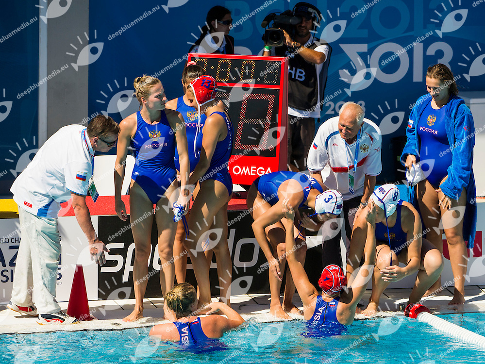 Russia RUS - Greece GRE<br /> 15 FINA World Aquatics Championships<br /> Day-10 Waterpolo Women<br /> Barcelona 19 July - 4 August 2013<br /> Photo G.Barbagelata/Insidefoto/Deepbluemedia.eu