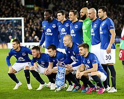 The Everton team photo  - Photo mandatory by-line: Matt McNulty/JMP - Mobile: 07966 386802 - 26/02/2015 - SPORT - Football - Liverpool - Goodison Park - Everton v Young Boys - UEFA EUROPA LEAGUE ROUND OF 32 SECOND LEG