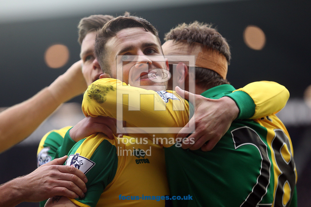 Robbie Brady of Norwich celebrates scoring his sides 1st goal during the Barclays Premier League match at The Hawthorns, West Bromwich<br /> Picture by Paul Chesterton/Focus Images Ltd +44 7904 640267<br /> 19/03/2016