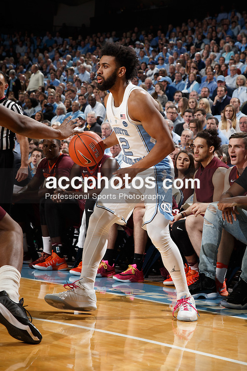 CHAPEL HILL, NC - JANUARY 26: Joel Berry II #2 of the North Carolina Tar Heels plays against the Virginia Tech Hokies on January 26, 2017 at the Dean Smith Center in Chapel Hill, North Carolina. North Carolina won 91-72. (Photo by Peyton Williams/UNC/Getty Images) *** Local Caption *** Joel Berry II
