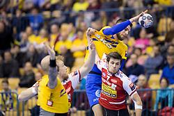 Borut Mackovsek of RK Celje Pivovarna Lasko during handball match between RK Celje Pivovarna Lasko (SLO) and Aalborg Handbold (DEN) in VELUX EHF Champions League, on February 24, 2018 in Dvorana Zlatorog, Celje, Slovenia. Photo by Urban Urbanc / Sportida