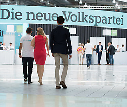 "01.07.2017, Design Center, Linz, AUT, ÖVP, 38. ordentlicher Bundesparteitag, mit Wahl von Bundesminister Kurz zum neuen Bundesparteiobmann, unter dem Motto ""Zeit für Neues - Zusammen neue Wege gehen"". im Bild Feature Die Neue Volkspartei // during political convention of the Austrian People' s Party with election of Sebastian Kurz as the new party leader at Design Centre in Linz, Austria on 2017/07/01. EXPA Pictures © 2017, PhotoCredit: EXPA/ Michael Gruber"