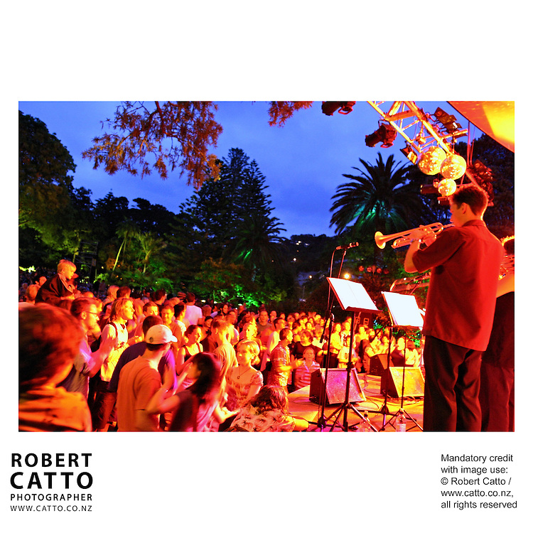 Summer City performance, Botanic Garden Soundshell, Wellington New Zealand.