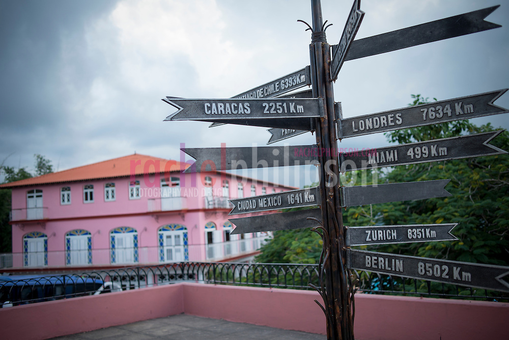 Cuba, Viñales, landscape, mountain view, signs
