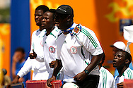 Football-FIFA Beach Soccer World Cup 2006 - Group D- Nigeria - Bahrain, Beachsoccer World Cup 2006. Nigeria's coach Emeteole   - Rio de Janeiro - Brazil 06/11/2006. Mandatory credit: FIFA/ Manuel Queimadelos