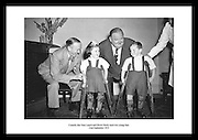 Comedy duo Stan Laurel and Oliver Hardy meet two young fans<br />