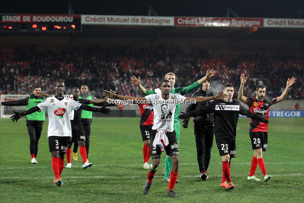 JOIE GUINGAMP  - 24.01.2015 - Guingamp / Lorient - 22eme journee de Ligue1<br />Photo : Vincent Michel / Icon Sport *** Local Caption ***