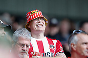 A fan of Sheffield United during the Premier League match between Sheffield United and Crystal Palace at Bramall Lane, Sheffield, England on 18 August 2019.