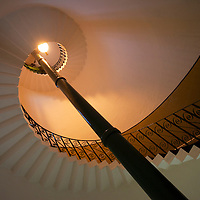 Lighthouse internal staircase, Flamborough Head, East Yorkshire