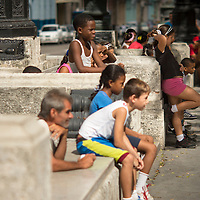 Cuba, Havana central, el prado, kids gym class
