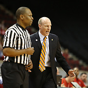 Head Coach John Groce of the Illinois Fighting Illini speaks with an official during the NIT First Round game at Agganis Arena on March 19, 2014 in Boston, Massachusetts . (Photo by Elan Kawesch)