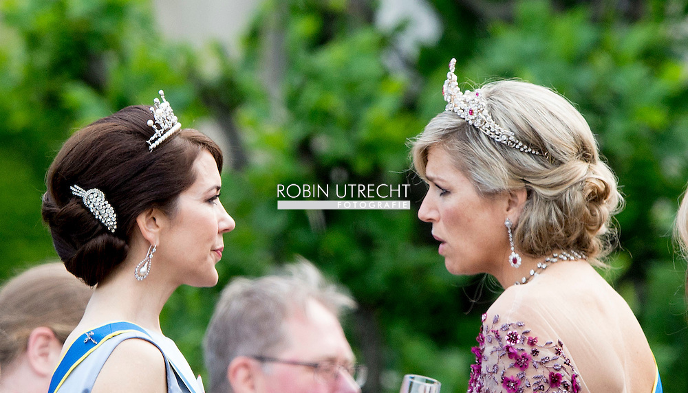 13-6-2015 STOCKHOLM   Maxima and Mary The wedding of Prince Carl Philip and Sofia Hellqvist  at the  Royal palace in Stockholm .COPYRIGHT ROBIN UTRECHT